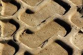 Sporen van een trekker — Stockfoto