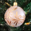 Sphere with a bow for a fur-tree — Stock Photo #2302970