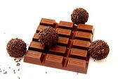 Chocolate and a truffle 1 — Stock Photo