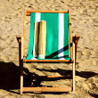 The folding stool for rest at the sea 1 — Stock Photo