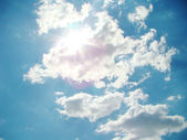 Sun beams in clouds — Stock Photo