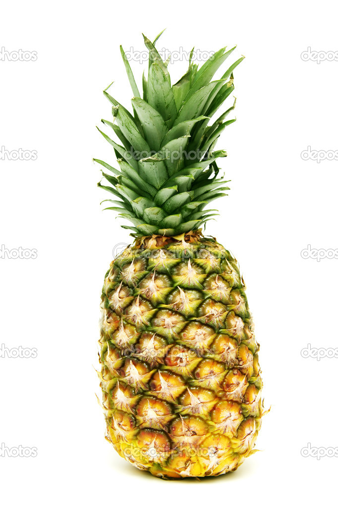 Pineapple isolated on a white background — Photo #2469252