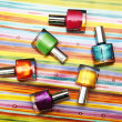 Stock Photo: Colour vials of nail polish
