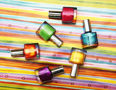 Colour vials of nail polish — Stock Photo