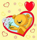 Bear with balloon. Cartoon. — Stock Vector