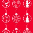 Royalty-Free Stock Vector Image: Set Christmas balls.