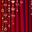 Royalty-Free Stock Vector Image: Red curtain with decoration.