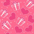Royalty-Free Stock Vector Image: Seamless with hearts.