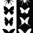 Royalty-Free Stock Vektorgrafik: Set insect.  Butterfly and spider.