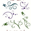 Decorative floral elements - Stockvectorbeeld