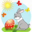Royalty-Free Stock Vector Image: Hare. Easter card.