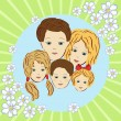 Royalty-Free Stock Vector Image: Happy family.