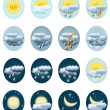 Stock Vector: Set weather icons.