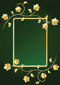 Floral frame for text. Green — Stock Vector