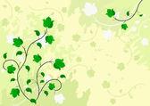 Green grange ornament. — Stock Vector