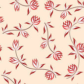 Floral transparente. — Vector de stock