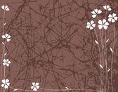 Grange floral background. — Stock Vector