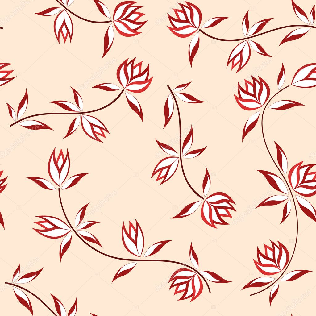 Floral background. Seamless. Vector illustration  Stock Vector #2188421