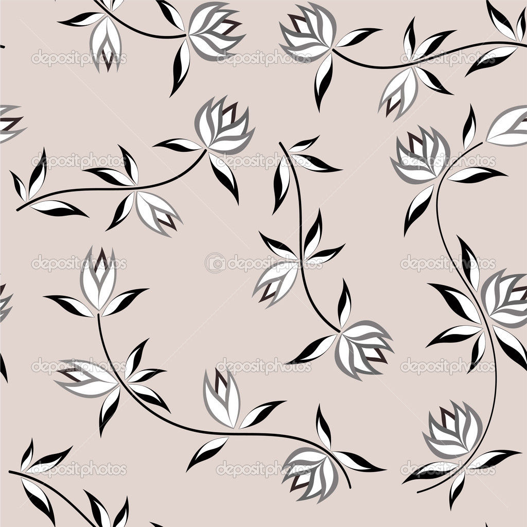 Floral background. Seamless. Vector illustration  Stock Vector #2188448