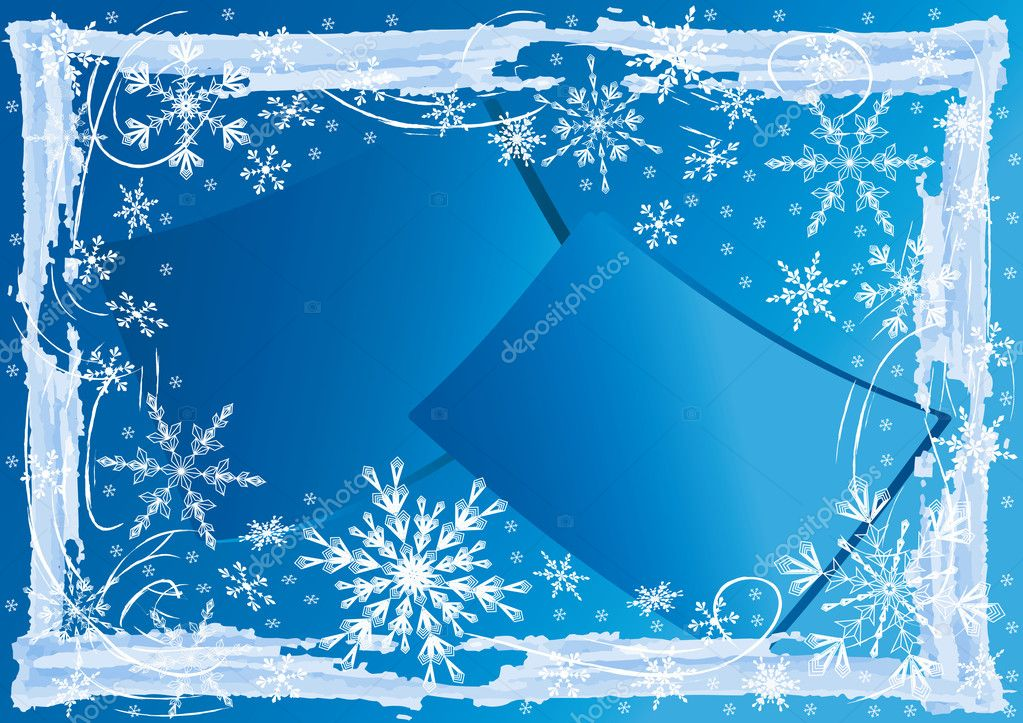 Winter  background. Vector  illustration. — Stock Vector #2189350