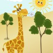 Giraffe. — Stock Vector