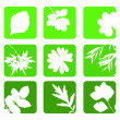 Set nature icons. — Stockvectorbeeld