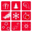 Royalty-Free Stock Vector Image: Set winter icons.
