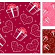 Stock Vector: Seamless with hearts. Set