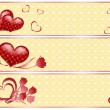 Valentine's banners with hearts. — Stock Vector #2212099