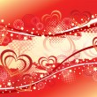 Abstract valentine's  background. — Stock Vector