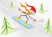 Gioia snowboader. — Vettoriale Stock
