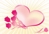 Heart. Valentine's background. — Stockvektor