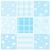 Set blue baby seamless. — Stock Vector