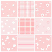 Set pink baby seamless. — Stock Vector