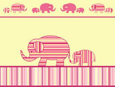 Mother elephant and baby elephant. — Stock Vector