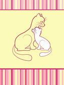 Cheerful babies card. Cats. — Stock Vector