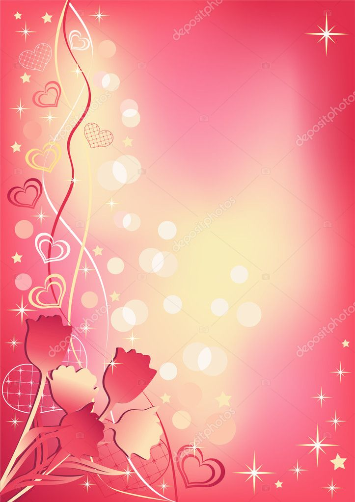 Abstract valentine`s background. Vector illustration. — Stock Vector #2212460