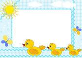 Children's framework. Ducklings. — Stock Vector