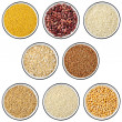 Collection of cereals and legumes — Stock Photo