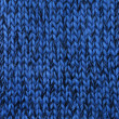 Blue knitted texture — Stock Photo
