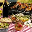 Stock Photo: BBQ picnic