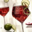 Stock Photo: Wine cocktail