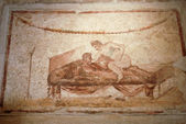 Pompeii fresco — Stock Photo