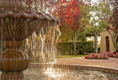 Binnenplaats fontein — Stockfoto