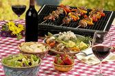 Bbq-picknick — Stockfoto