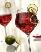 Wine cocktail — Stock Photo