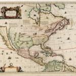 Карта старого мира — Стоковое фото