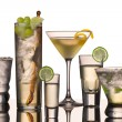 Vodka cocktails — Stock Photo