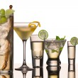 Stock Photo: Five vodka cocktails
