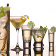 Five vodka cocktails — Stock Photo